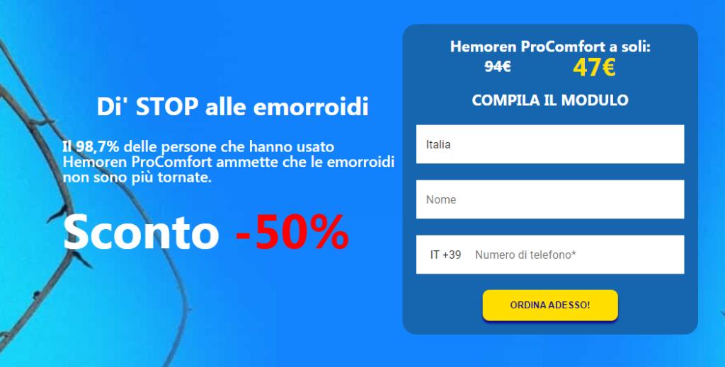 Hemoren ProComfort Pillola